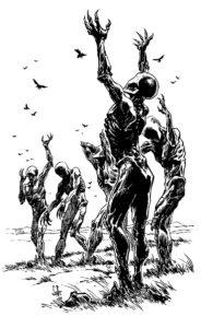 Eveil des Chimeres - statues
